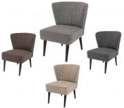Chaise rembourrée en bois et tissu - Dimensions (L x l x h) : 49 x 46 x 78 cm