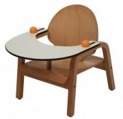 Chaise repas pour bébé - 2 hauteurs d'assise : 18 ou 22 cm