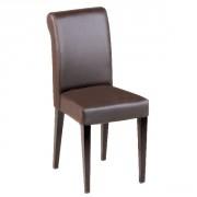 Chaise restaurant à dossier haut - Simili cuir - Hauteur d'assise : 47 cm