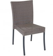 Chaise restaurant aluminium ADANA - Usage : Extérieur - Structure : aluminium -Dimensions L x p x h : 43 x 43 x 92 cm