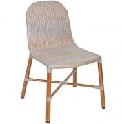 Chaise restaurant aluminium SWEET - Usage : Extérieur - Structure : aluminium oak naturel - Dimensions L x p x h : 44 x 49 x 80 cm