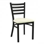 Chaise restaurant bistrot en acier - Dimension : H. 81.50 x L. 42 x P. 44 cm