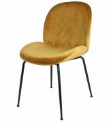 Chaise restaurant en velours - Dimensions : 56 x 58 x 86 cm