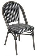 Chaise restaurant terrasse Veneto - Usage : Extérieur - Structure : aluminium - Dimensions L x P x H: 46 x 45 x 88 cm
