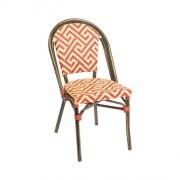 Chaise rotin de terrasse café - Hauteur (cm) : 89