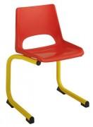Chaise scolaire coque plastique - Piétement appui sur table