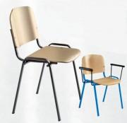 Chaise scolaire empilable en hêtre - Dimensions (l x H x P) cm: 54 x 81 x 55