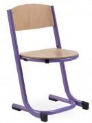 Chaise scolaire en bois empilable - Hauteurs d'assises réglables : 26 - 31 et 35 cm