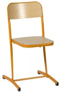 Chaise scolaire fixe - Embase tube 36 x 18