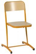 Chaise scolaire fixe appui sur table - Structure tube Ø 25 mm