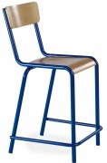 Chaise scolaire haute - Hauteur d'assise : 58 cm - Piètement tube Ø 25 mm et 20 mm