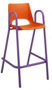 Chaise scolaire haute coque plastique - Hauteur d'assise 530 mm