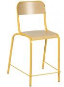 Chaise scolaire haute en hêtre multiplis - Hauteur d'assise 605 mm