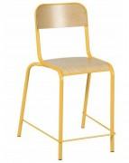 Chaise scolaire haute stratifié - Piétement métallique