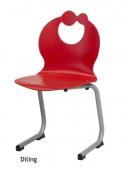 Chaise scolaire maternelle à appui sur table - Structure tube