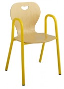 Chaise scolaire maternelle coque bois - Tube Ø 20