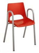 Chaise scolaire maternelle coque plastique - Tube Ø 20 mm