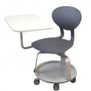 Chaise scolaire mobile pivotante - Coque polyuréthane