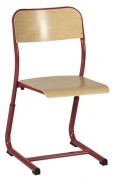 Chaise scolaire réglable simple galbe - Tube Ø 25 mm