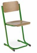 Chaise scolaire bois réglable appui sur table - Taille : 3 à 5, 4 à 6 ou 5 à 7 - Hêtre vernis naturel