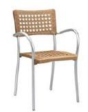 Chaise terrasse aluminium - Dimensions (L x P x H) cm : 56 x 54 x 86