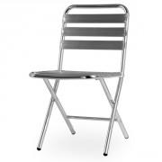Chaise terrasse aluminium pliante - Hauteur d'assise : 45,5 cm