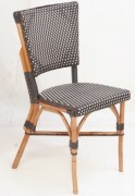 Chaise terrasse bar en rotin - Dimensions (lxpxh) en cm : 85x38x45