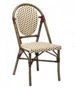 Chaise terrasse restaurant style rotin