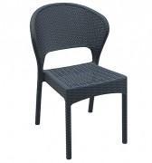 Chaise tressée plastique - Hauteur : 81 cm - Profondeur : 61 cm