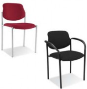 Chaises de salle d'attente - Structure époxy noir