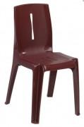 Chaises plastique de terrasse restaurant - Dimensions (L x P x H) cm : 43 x 50 x 81