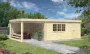 Chalet bois avec auvent - Surface totale de 33 m²