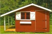 Chalet bois pour jardin - Emprise au sol (m) : 3,03 x 3,03