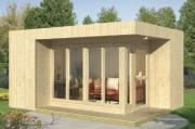 Chalet bois sapin double parois - Surface de 17 m²