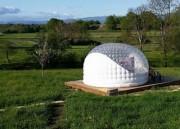 Chambre d'hôte bulle gonflable - Totalement silencieux, sans soufflerie permanente