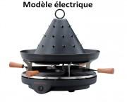 Chapeau tatare pour professionnels - 2 modèles : A alcool (3 brûleurs) et électrique