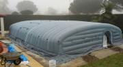 Chapiteau de chantier gonflable