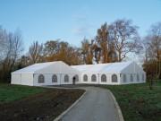 Chapiteaux en structure aluminium - Dimensions : largeur 12 m - Longueur au choix