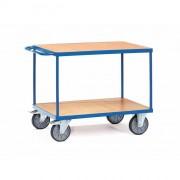 Chariot 2 à 4 plateaux bois - Capacité de charge : 600 kg
