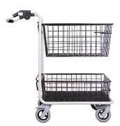 Chariot 2 corbeilles pour courrier - Capacité : 250 kg