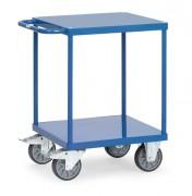 Chariot 2 plateaux en tôle d'acier - Charge (kg) : 500 - Norme EN 1757-3