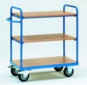 Chariot 3 / 4 plateaux sans rebords - Charge (kg)  : 400 ou 500