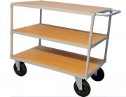 Chariot 3 plateaux bois - Capacité : 300 Kg