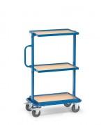 Chariot 3 plateaux pour bacs - Charge (kg) : 200 - Norme 1757-3