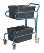 Chariot à 2 bacs - Charge utile (Kg) : 100