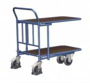 Chariot à 2 plateaux contreplaqués - Capacité de charge (Kg) : 400 - 500