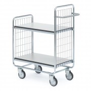 Chariot à 2 plateaux ESD réglables en hauteur - Capacité de charge : 200 Kg