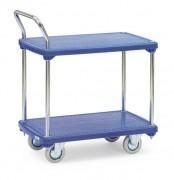 Chariot à 2 plateaux plastiques - Charge (kg) : 200