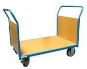 Chariot à 2 ridelles en bois - Charge utile (Kg) : 500
