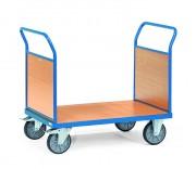 Chariot à 2 ridelles en mélaminé - Charge (kg) : 500 - 600 /  Norme 1757-3